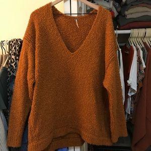 Free People Oversized V-neck sweater